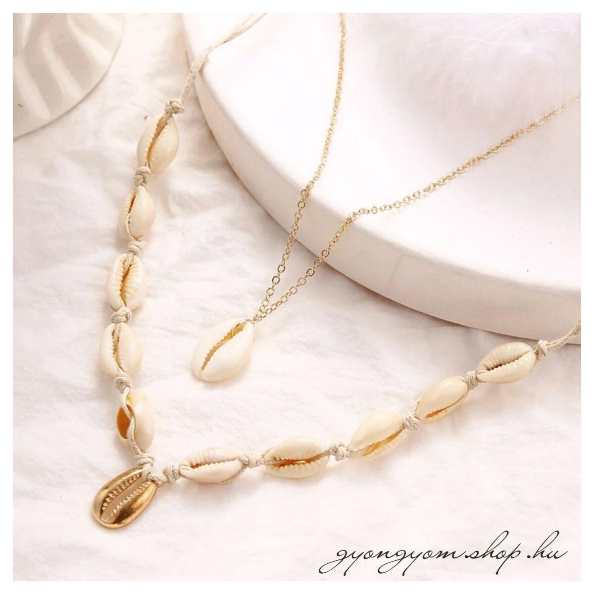 Amoli kagylós nyaklánc