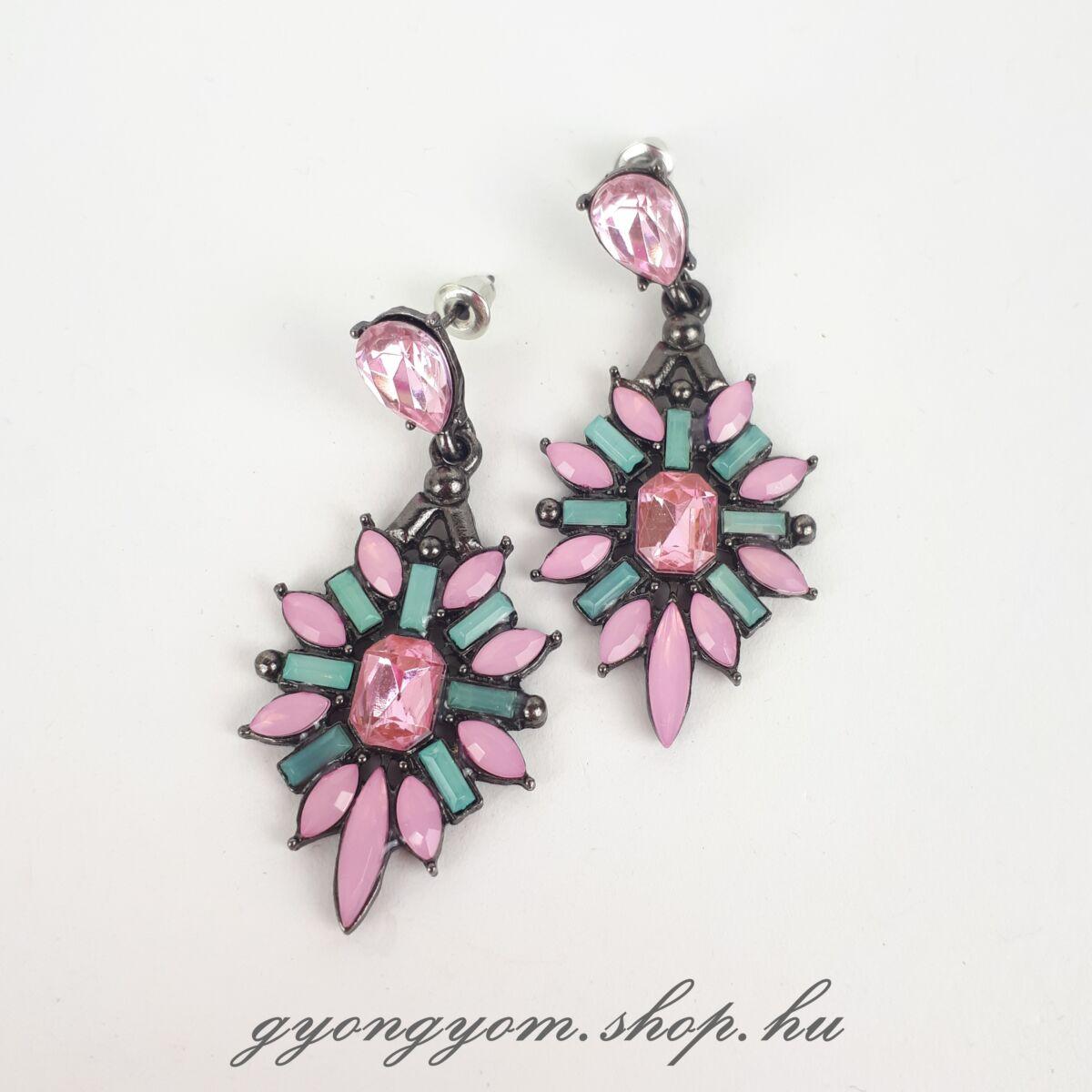 Elipsa rózsaszín fülbevaló