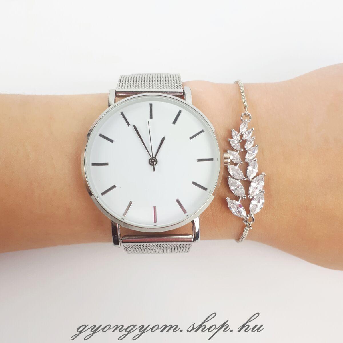 Effie ezüst színű karlánc Gemma karórával