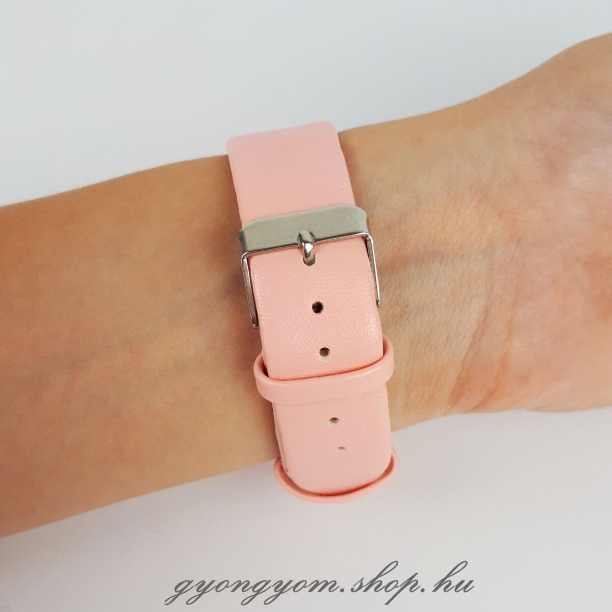 Unikornisos karóra rózsaszín műbőr szíjjal
