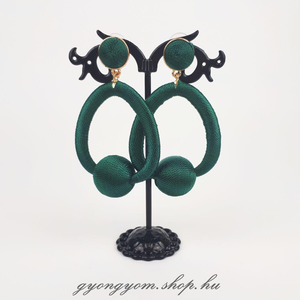 Héra zöld fülbevaló