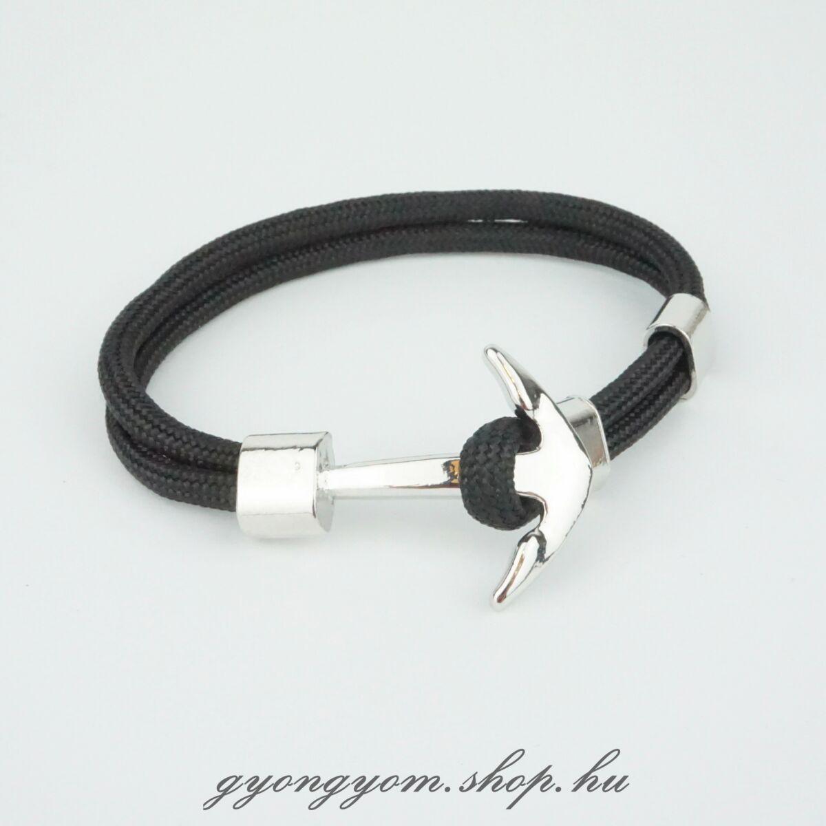 Fekete horgony karkötő