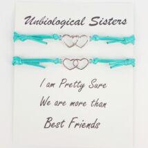 Unbiological sisters kék karkötő szett