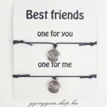 Pinky Promise fekete barátság karkötő