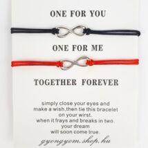 Together forever páros karkötő szett