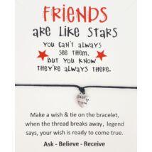 Friends fekete barátság karkötő