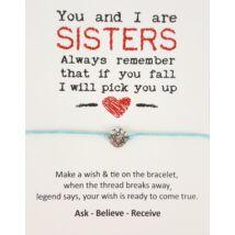 Sisters kék barátság karkötő
