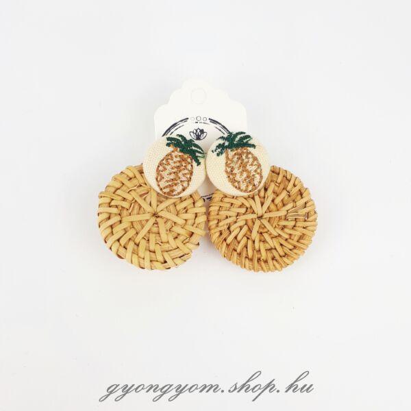 Ananász fonott fülbevaló
