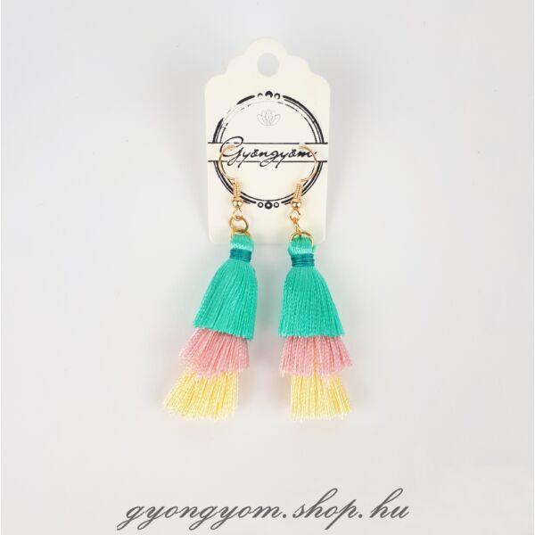 Vilma színes bojtos fülbevaló