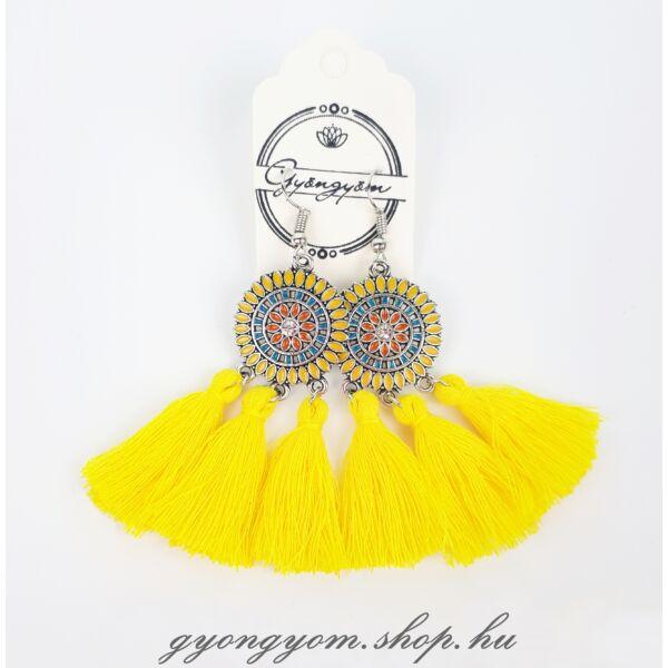 Bohemia sárga fülbevaló