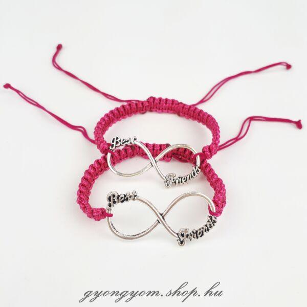 Best Friends pink barátság karkötő