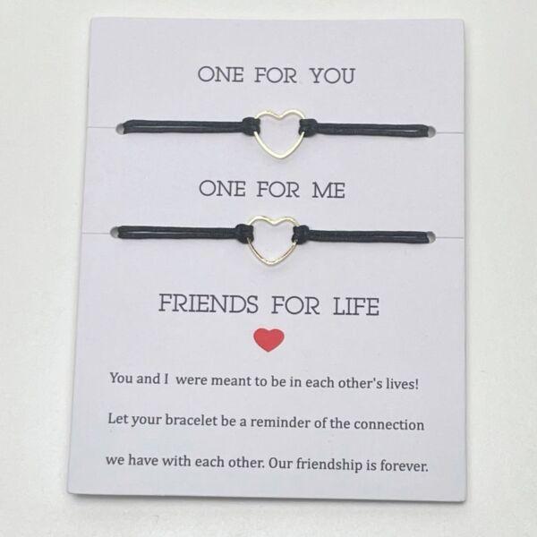 Friends for life barátság karkötő szett