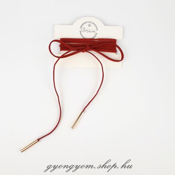 Hesztia piros megkötős nyakpánt