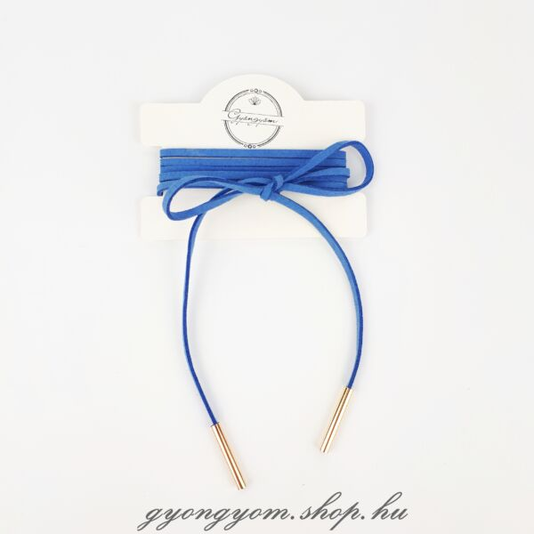 Hesztia kék megkötős nyakpánt