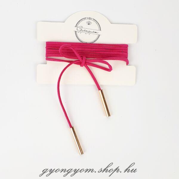 Hesztia pink megkötős nyakpánt