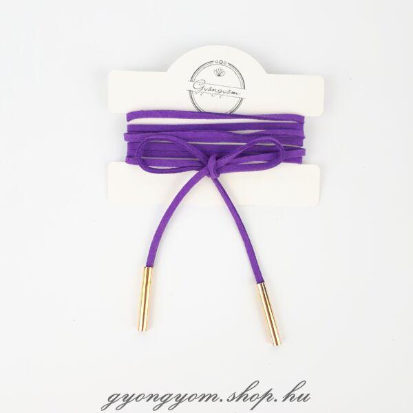 Hesztia lila megkötős nyakpánt