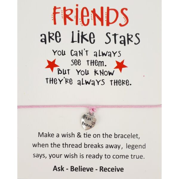 Friends rózsaszín barátság karkötő