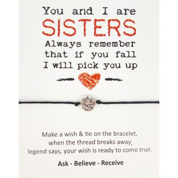 Sisters fekete barátság karkötő