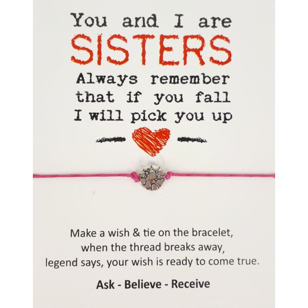 Sisters rózsaszín barátság karkötő