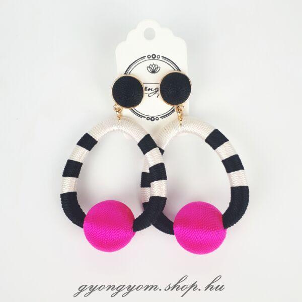 Héra pink fülbevaló
